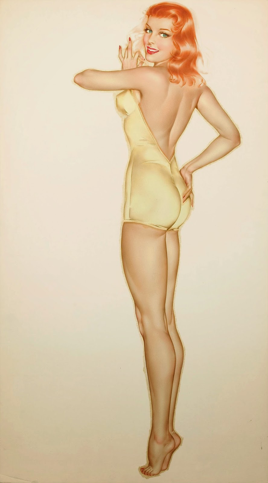 Alberto Vargas classic pinup art woman