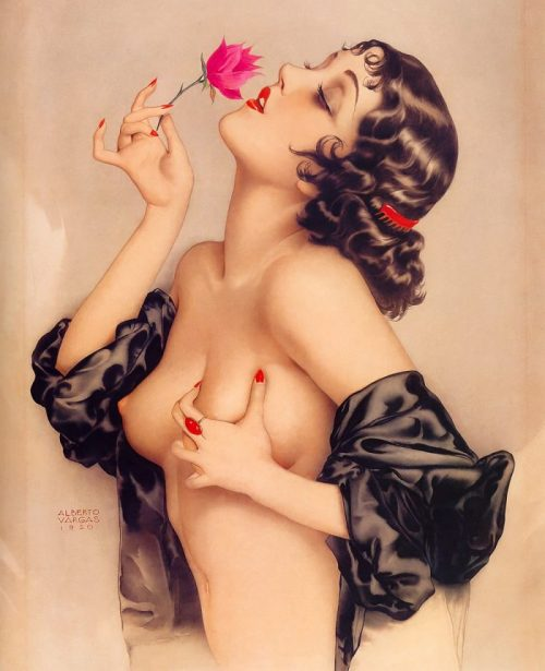 Alberto Vargas Memories of Olive pin-up art