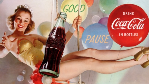 Gil Elvgren pinup for Coca Cola
