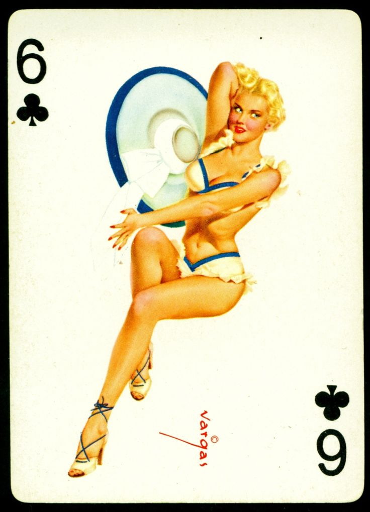 vargas playing card pin-up art