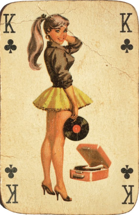 pinup playing card showgirl 1950s