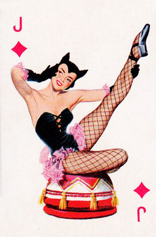 playing card pin-up art woman