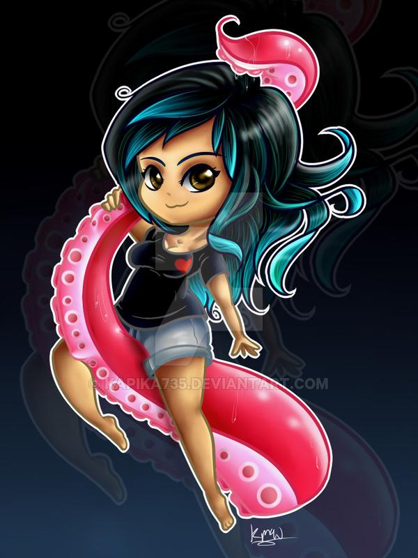 tentacle pinup art