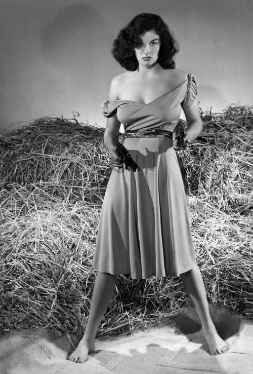 Jane Russell pinup photo from The Outlaw movie