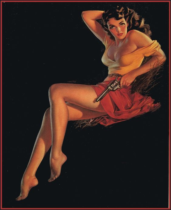 Zoe Mozert pinup artist The Outlaw Jane Russell