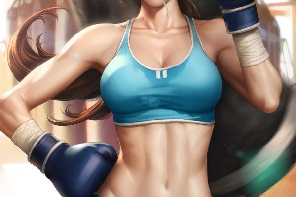 boxing pinup woman sport artgerm