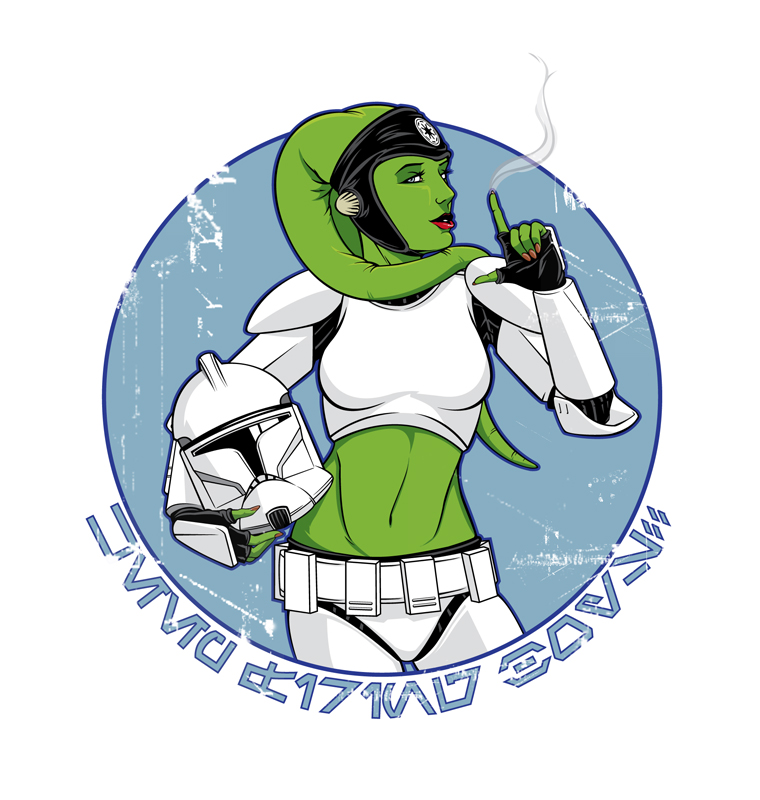 Star Wars pin-up Twi-lek girl sexy art