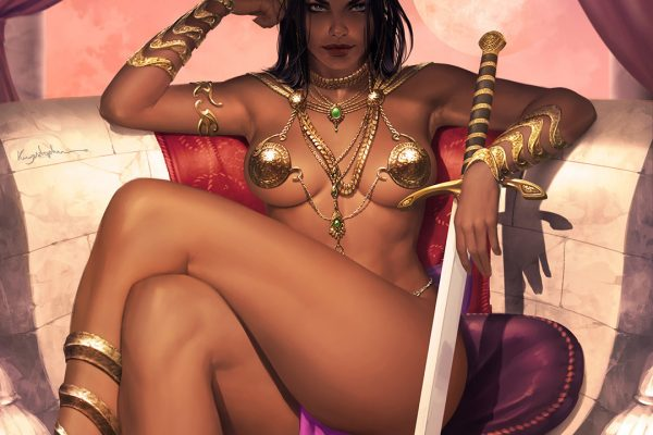 Dejah Thoris Mars princess pin-up art