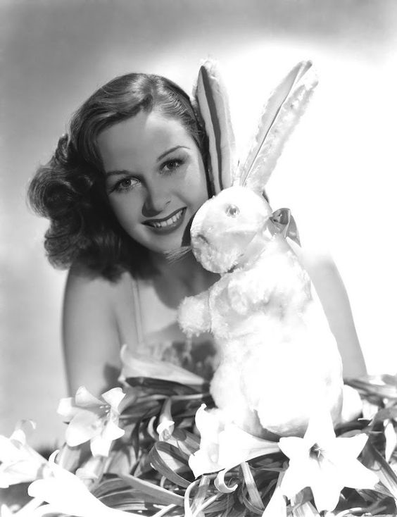 Susan Hayward pin-up easter photo