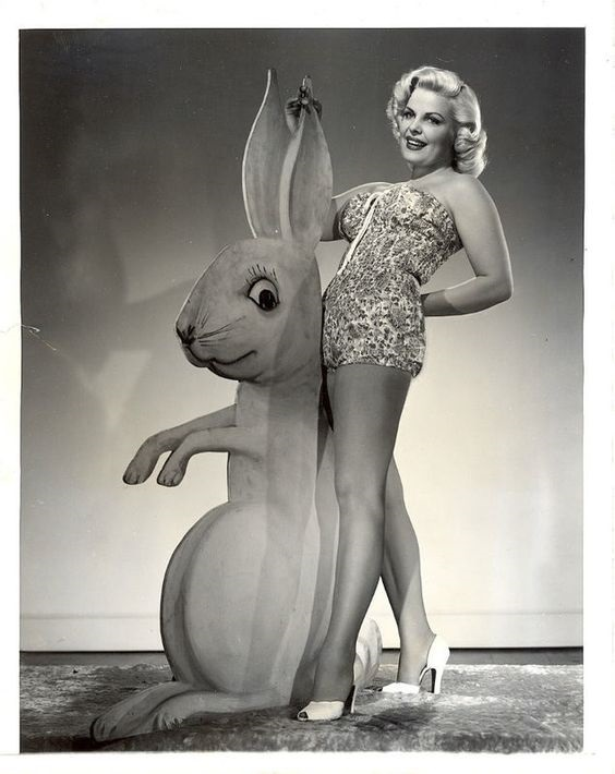 vintage Easter pinup photo beauty