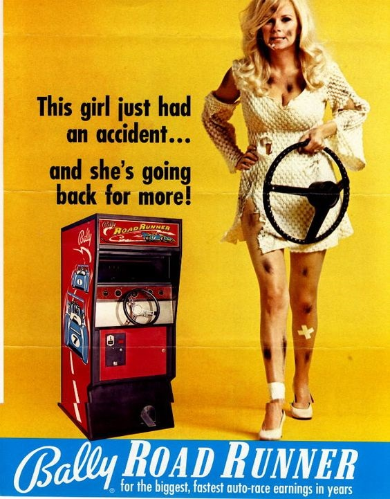Bally arcade pin-up woman ad