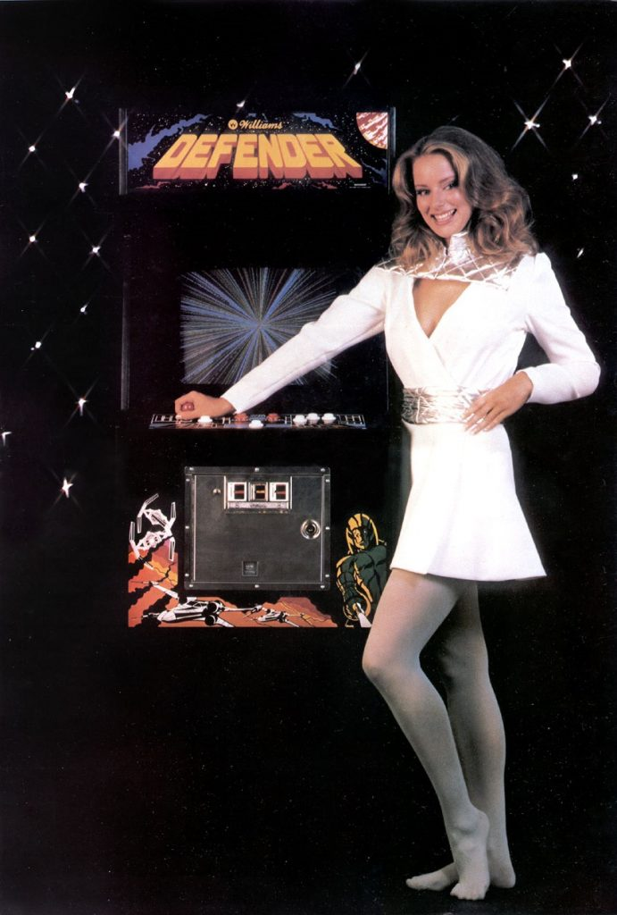 Defender arcade game williams pin-up model