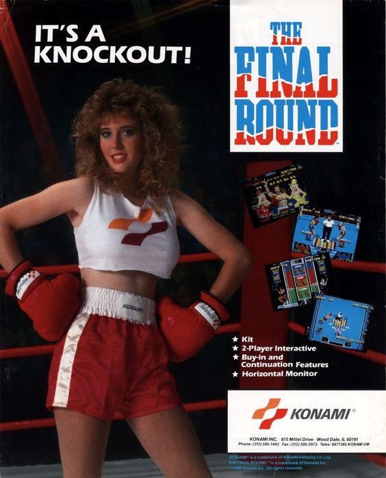 Konami arcade final round pin-up