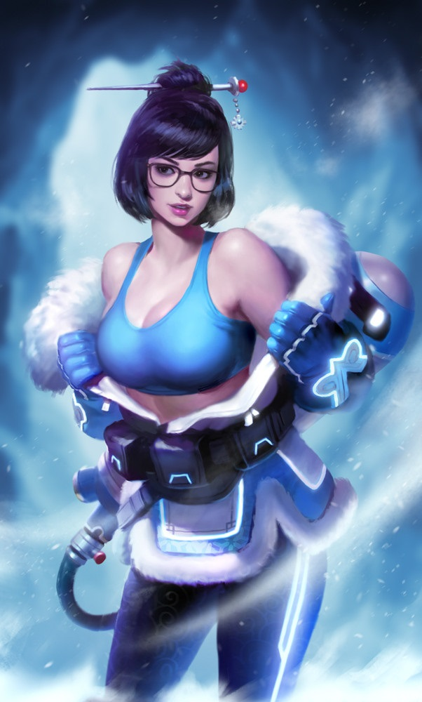 Mei from Overwatch pin-up artwork by KIlart