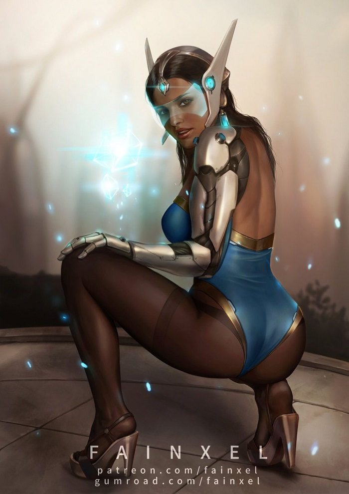 Overwatch pin-up art Symmetra