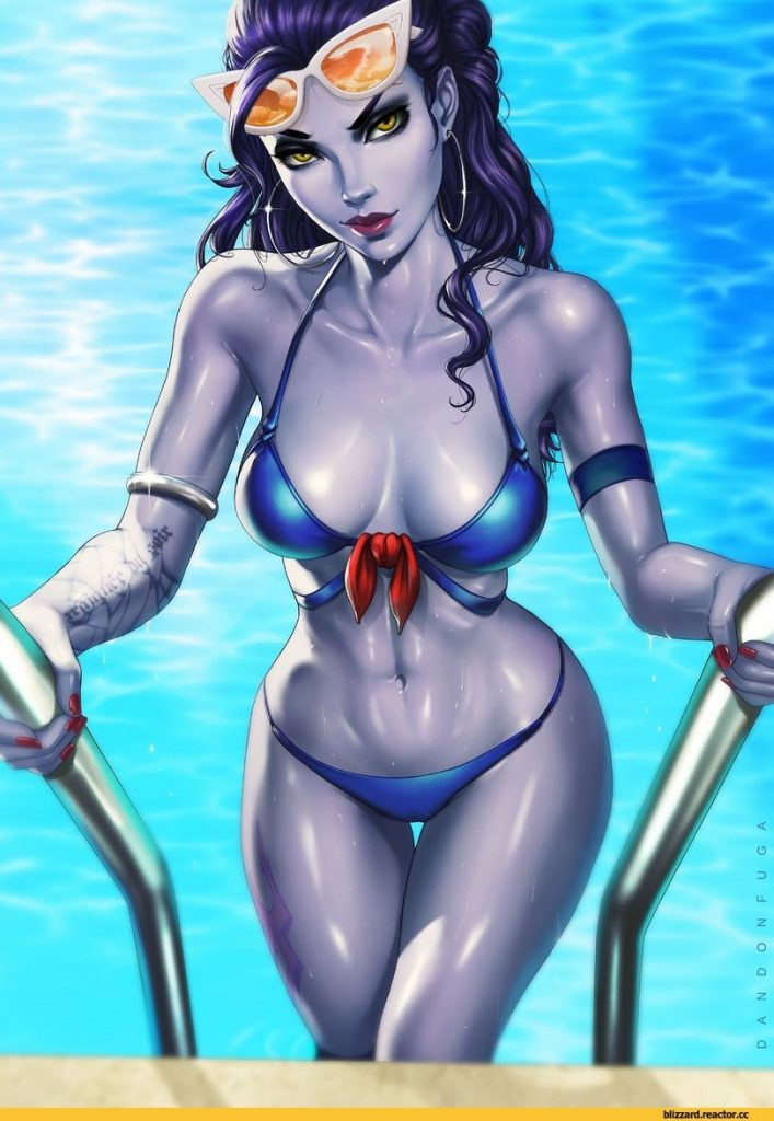 Widowmaker Overwatch pin-up artwork