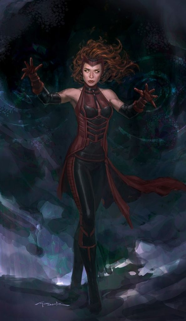 Scarlet Witch Age of Ultron art Andy Park