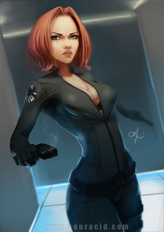 Black Widow great pin-up artwork