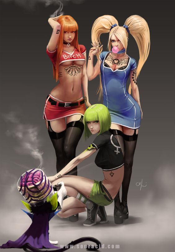 Powerpuff Girls pin-up art