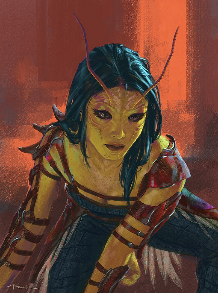 Mantis Guardians of the Galaxy concept art