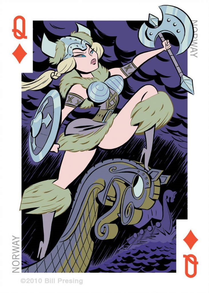 Norway playing card art