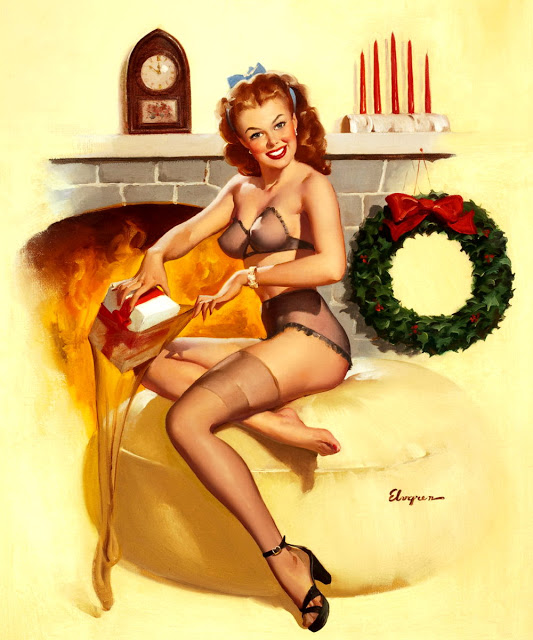 Boxing Day by Gil Elvgren