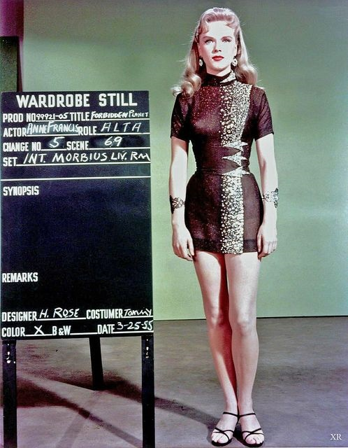Forbidden Planet costume for Anne Francis