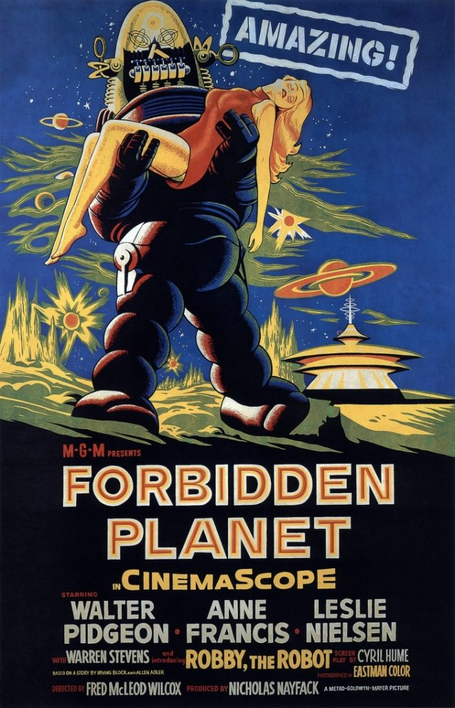 Forbidden Planet movie poster pin-up