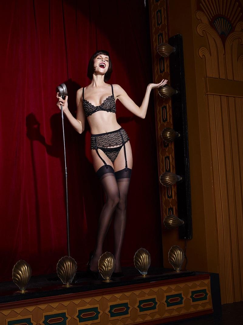 Pin-up girl style art lingerie