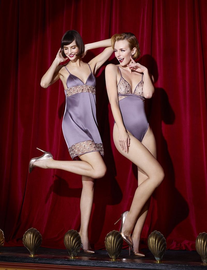 Lingerie inspired by 1920s fashion
