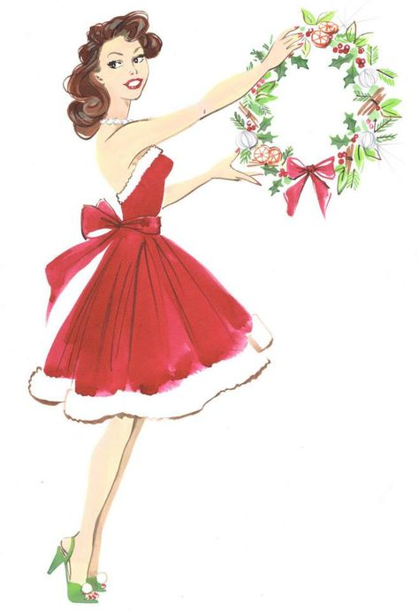Christmas pin-up red dress