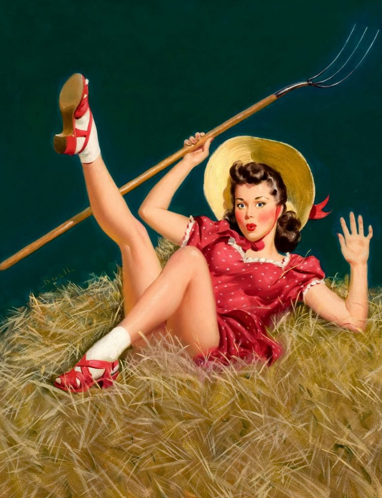 Al Buell pin-up girl painting