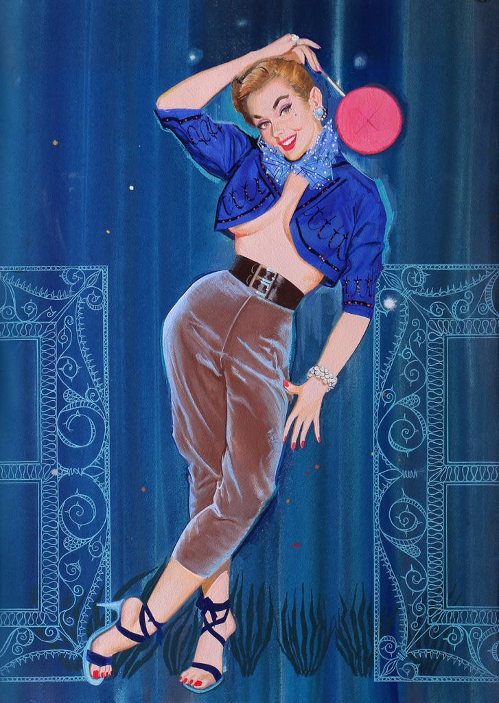 Arnold Kohn Lollipop Girl pin-up art