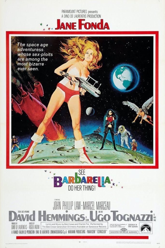 Jane Fonda as Barbarella in movie poste