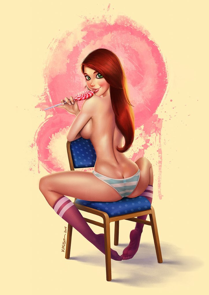 Lollipop pin-up by Felipe Kimio