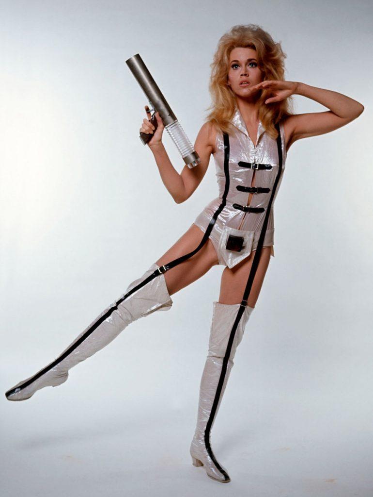 Jane Finda pin-up as Barbarella