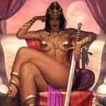 Dejah Thoris Mars princess pin-up art