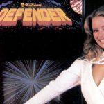 defender model video game ad