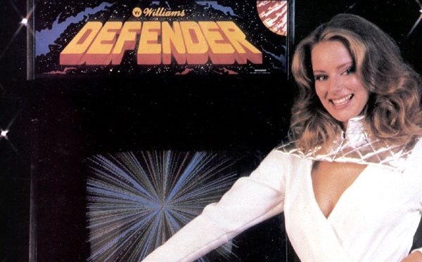 defender model video game ad