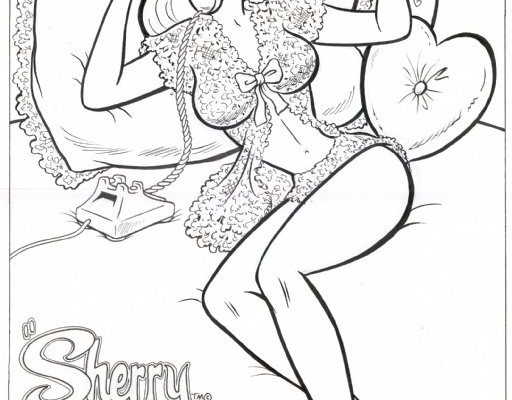 Pin-up Sketch of Sherry the Showgirl by Dan DeCarlo